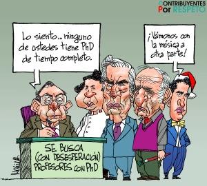 Caricatura de Mario Molina para Contribuyentes por Respeto.